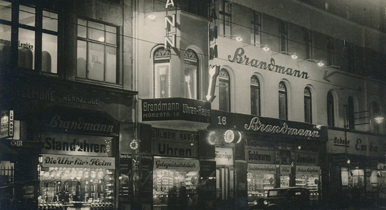 Photograph of Brandmann Jewellers and Watchmakers, Berlin, c. 1938
