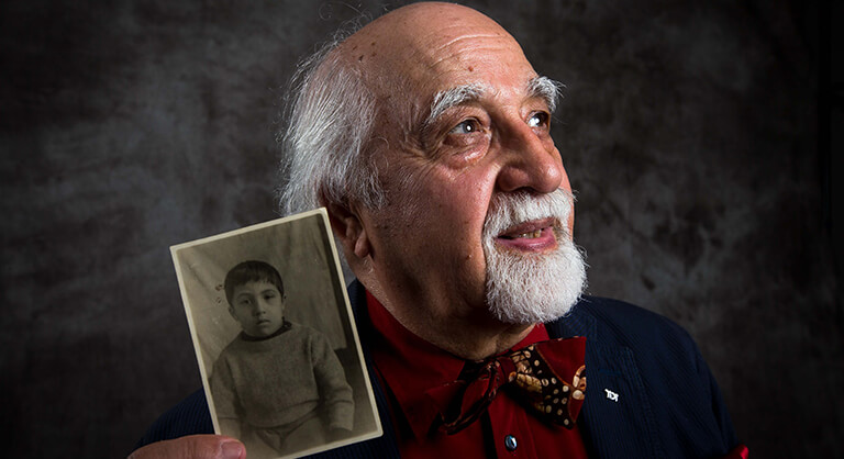 Holocaust child survivor George Sternfeld