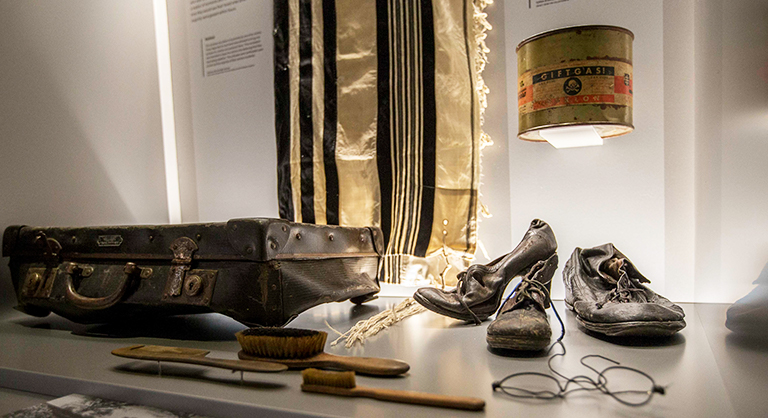 Belongings confiscated at Auschwitz
