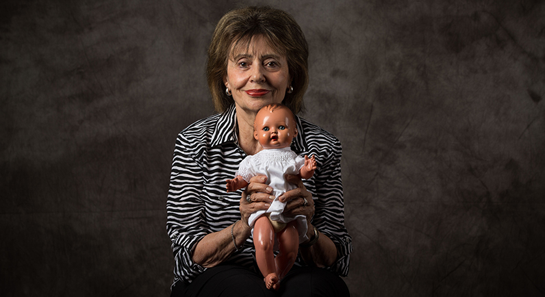 Holocaust child survivor, Susan Warhaftig