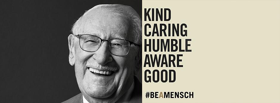Eddie Jaku, Holocaust survivor and Be A Mensch ambassador