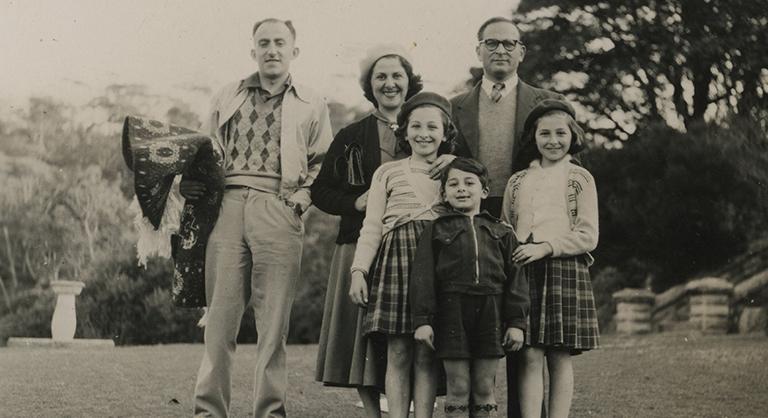 Cadry Family & Iraqi Jewish Friend Morris Joseph, rug in hand