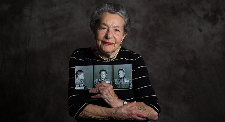 Holocaust survivor Lotte Weiss