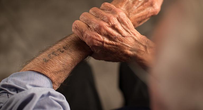 Holocaust survivor Eddie Jaku and his tattoo