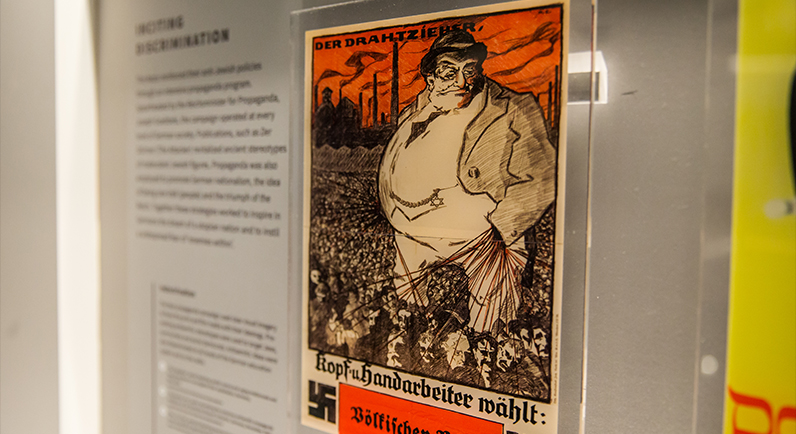 Exhibition artefact of a propaganda poster