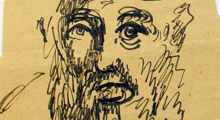 ink sketch by Polish artist Chaim Uryson