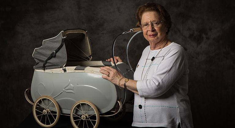 Photograph of Holocaust survivor Anne Heilig